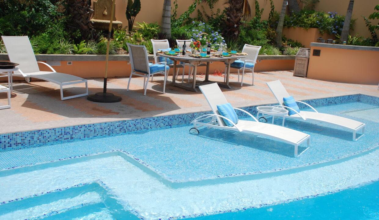Pool Beach Lounges Dining Deck
