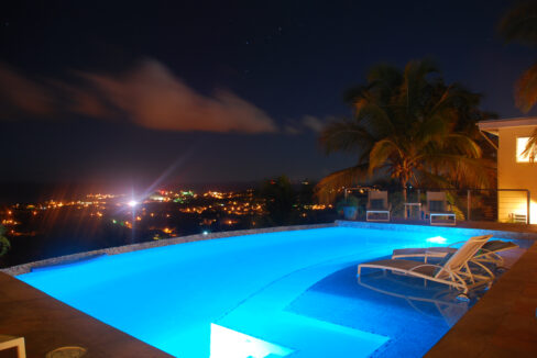 VDM Pool Nighttime View
